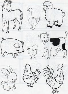 Dibujos infantiles de animales para descargar, imprimir ...