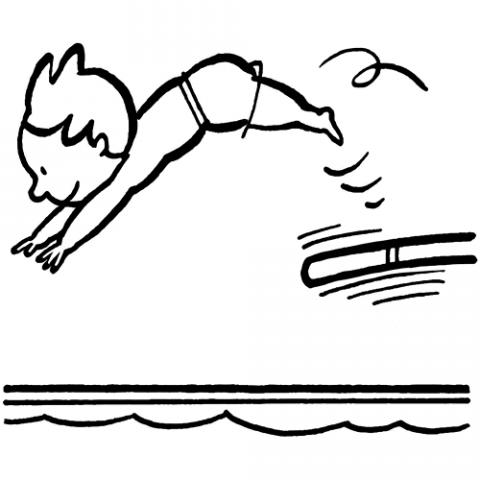 Dibujos de natación para imprimir y colorear | Colorear imágenes