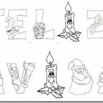 Carteles de Felíz Navidad para imprimir y colorear