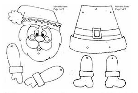 Manualidades de Navidad para imprimir pintar y recortar