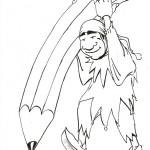 Dibujos del payaso Piñón Fijo para colorear