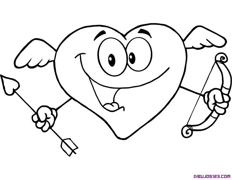 Corazon-disparando-flechas-de-amor
