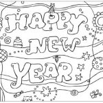 Dibujos para imprimir y pintar de Happy New Year