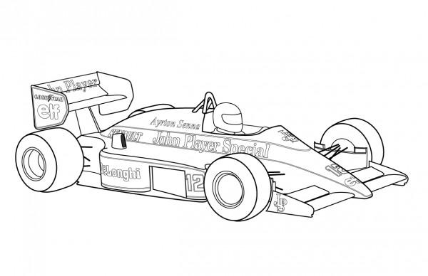 Dibujos de autos de carrera para colorear  Colorear imágenes