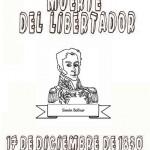 17 de diciembre – Aniversario de la muerte de Simón Bolívar – Dibujos para pintar