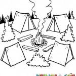 Dibujos de campamentos para imprimir y colorear