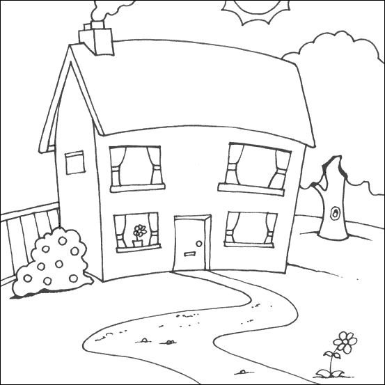 household coloring pages - photo#5