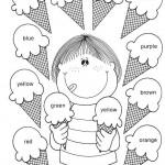 Actividades infantiles para pintar y aprender los colores en inglés
