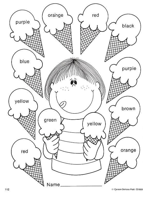 Actividades infantiles para pintar y aprender los colores - Colores para colorear ...