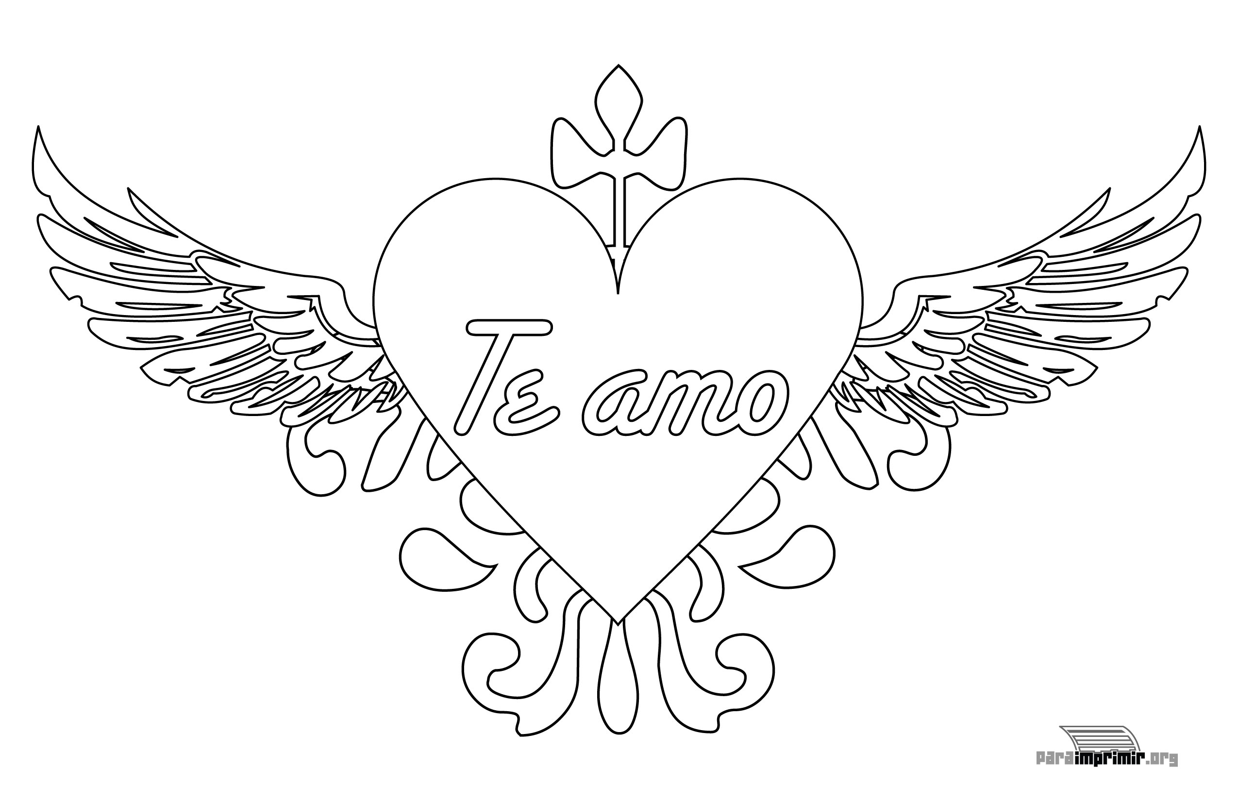 Adult Cute Te Amo Coloring Pages Images best 74 corazones de amor para pintar imprimir descargar y regalar flajk6gh8 images