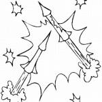 Fuegos artificiales – Dibujos para colorear