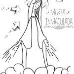 Dibujos de la Inmaculada Concepción de María para imprimir y colorear