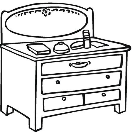 Dibujos de muebles para imprimir y colorear colorear for Dibujar muebles