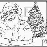 Tarjetas navideñas con Papá Noel, Pinos de Navidad, Renos Navideños, Tarjetas para colorear