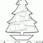 Juegos didácticos infantiles de Navidad para pintar y recortar