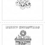 Hermosas tarjetas navideñas para colorear y regalar