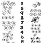 Plantillas didácticas para pintar y aprender los números
