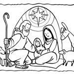 Dibujos de pesebres navideños para colorear: Belenes