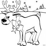 Dibujos de renos de Navidad para pintar
