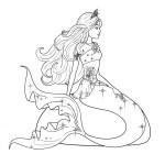Dibujos de Barbie Sirena para colorear