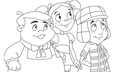 El Chavo y sus amigos de la vecindad para colorear  Colorear imgenes