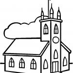 Dibujos infantiles de iglesias para colorear