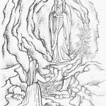 11 de febrero – Día de la Vírgen de Lourdes – Dibujos para pintar