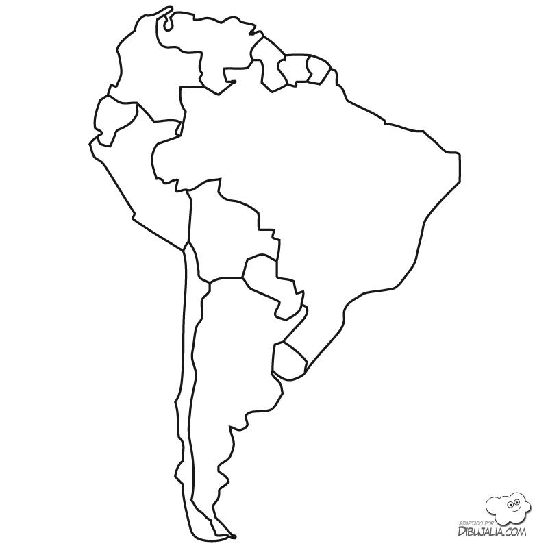 Mapas políticos de América del Sur para colorear | Colorear imágenes