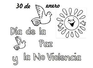 30 de enero  Da Escolar de la No Violencia y la Paz  Dibujos