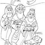 Dibujos de los Tres Reyes Magos para imprimir y colorear