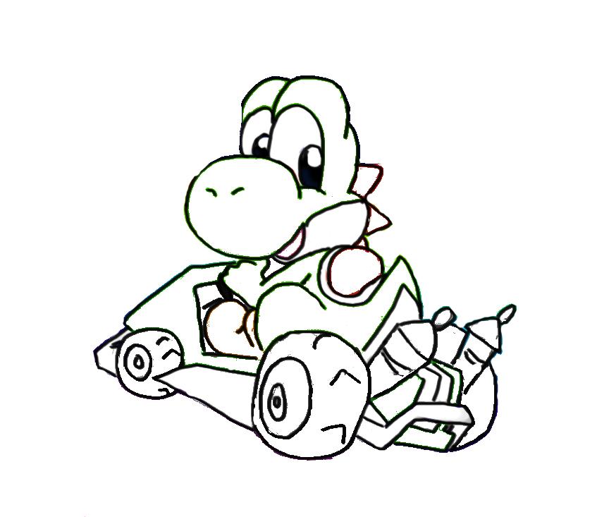 Dibujos De Mario Kart 7 Para Colorear - ARCHIDEV