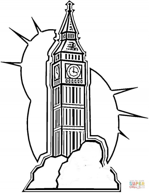 Big-ben-in-London-coloring-page