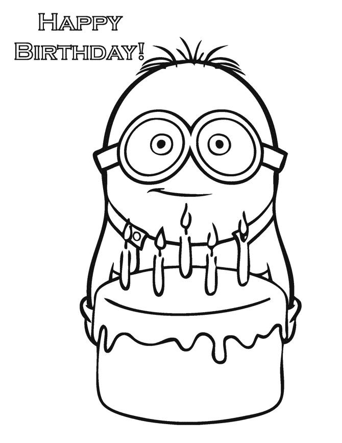 Bing Minion Coloring Pages
