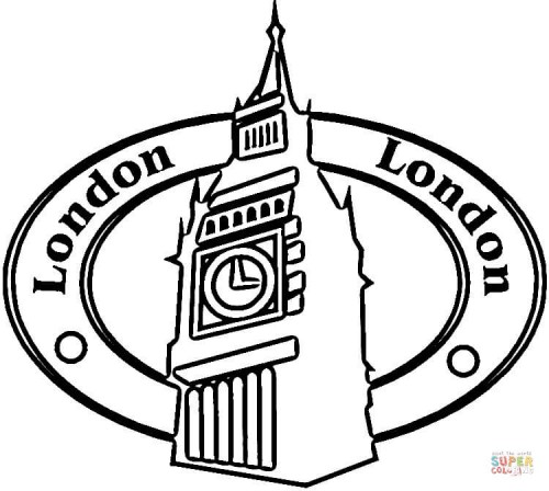 bigbenLondon-is-the-capital-Great-Britain-coloring-page