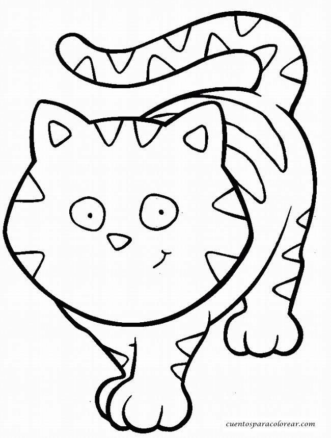 89 dibujos de gatos para imprimir y colorear