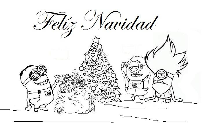 Dibujos Para Colorear De Minions En Navidad ~ Ideas Creativas Sobre ...