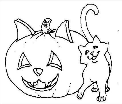 89 dibujos de gatos para imprimir y colorear colorear - Calabazas halloween para imprimir ...