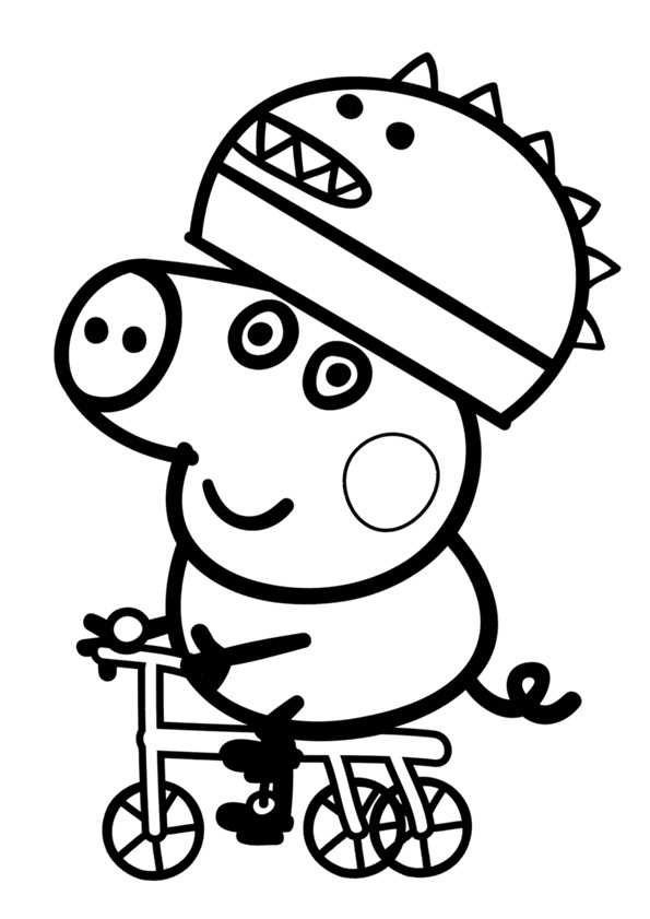 Im genes con dibujos de peppa pig para pintar y colorear colorear im genes - Dibujos para pintar en tejas ...