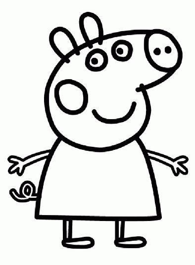 Imgenes con dibujos de Peppa Pig para pintar y colorear