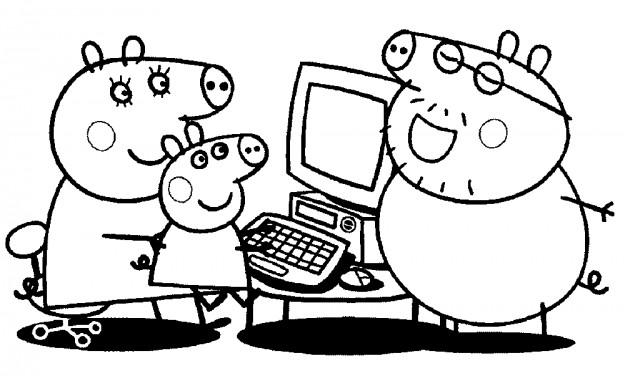 Imágenes con dibujos de Peppa Pig para pintar y colorear ...