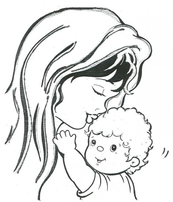 Dibujos para colorear imgenes del Da de la Madre  Colorear imgenes