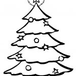 Imágenes para colorear de Árboles de Navidad