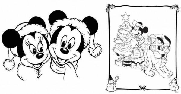 Dibujos Para Colorear De Disney: Imágenes Con Dibujos De Mickey Mouse De Navidad Para