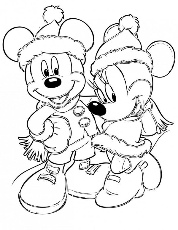 dibujos-para-colorear-de-minnie-navidad