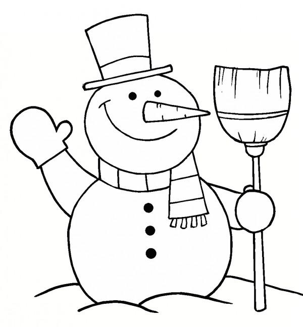 muneco-de-nieve-para-pintar