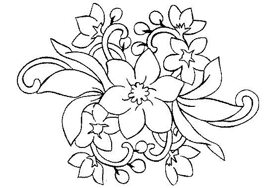 Dibujos Para Pintar Flores - Dibujos Para Pintar