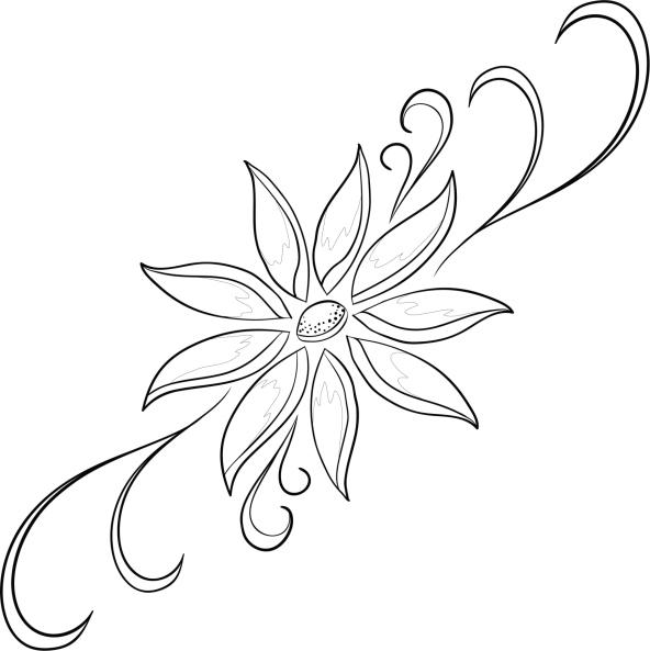 60 im genes de flores para colorear dibujos colorear im genes - Plantillas para dibujar en la pared ...