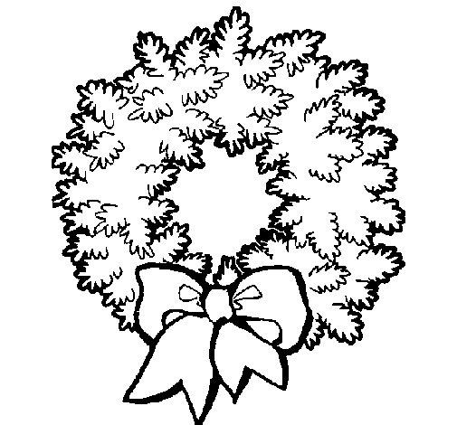 corona-de-navidad-colorear
