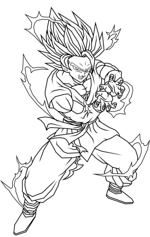60 Imgenes de Dragon Ball Z para colorear dibujos  Colorear imgenes