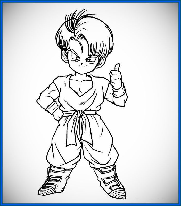 60 Imgenes de Dragon Ball Z para colorear dibujos  Colorear imgenes